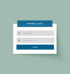 flat sticker style member login user interface vector image