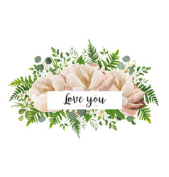 Floral card design with flower bouquet vector