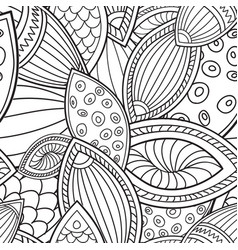 floral seamless pattern linear orient ornament vector image