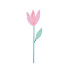 flower stem leaf decoration isolated design icon vector image