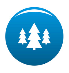 forest icon blue vector image