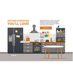 furniture design banner concept design template vector image