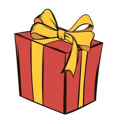 gift box icon cartoon vector image vector image