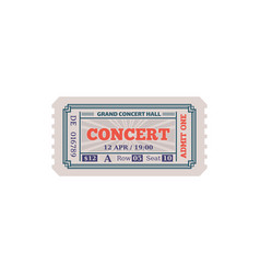 grand concert hall ticket isolated paper card icon vector image