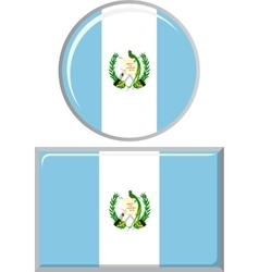 Guatemalan round and square icon flag vector image