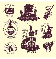 Halloween Emblems vector image