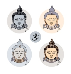 Hand drawn face of Buddha vector