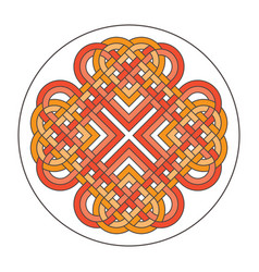 Heart celtic cross ethnic ornament vector