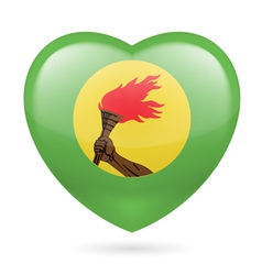 Heart icon of Zaire vector image