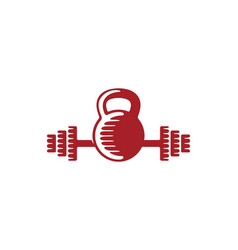 kettle bell fitness logo designs inspiration vector image
