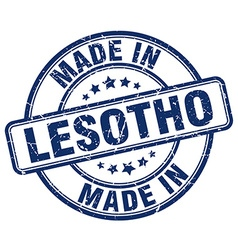 made in Lesotho vector image vector image
