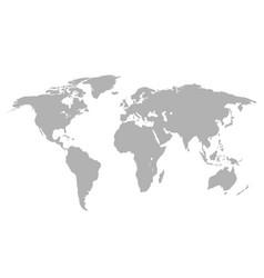 map earth grey color vector image