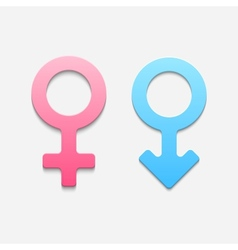 Mars and venus symbols vector image