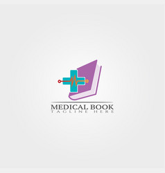 medical book icon template creative logo design vector image