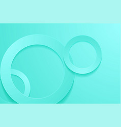 Modern turquoise backgrounds 3d circle papercut vector