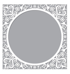 Moroccan openwork frame or border design vector