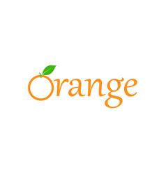 Orange fruit logo design template isolated vector
