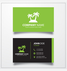 Palm icon business card template vector