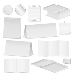 paper objects vector image