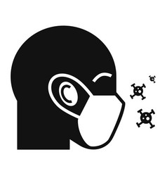 Protective air face mask icon simple style vector