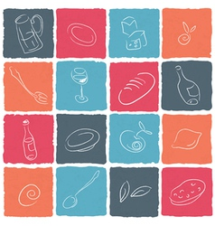 restaraunt icons vector image