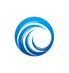 Round wave circle water logo vector
