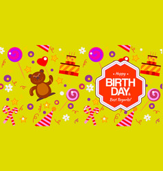 Seamless pattern for birthday vector