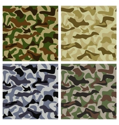 Set of camouflage patterns vector