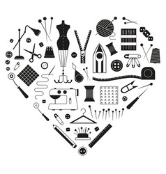 sewing equipment and tailor needlework accessories vector image