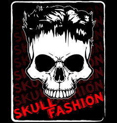 Skull t shirt graphic design vector