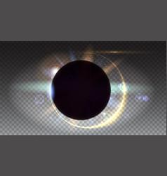 solar eclipse astronomical phenomenon - full sun vector image