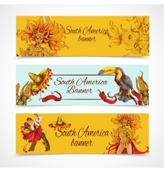 South america banners set vector image
