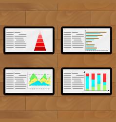 Statistical file on tablets vector