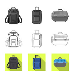 Suitcase and baggage logo vector