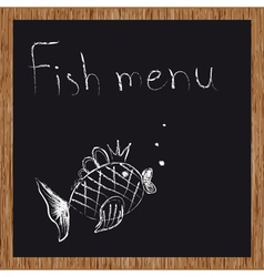 Template of a fish restaurant vector image