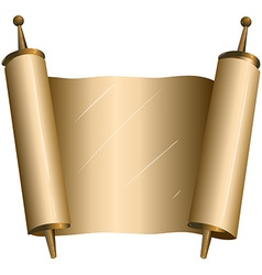 Traditional Jewish Torah Scroll vector image