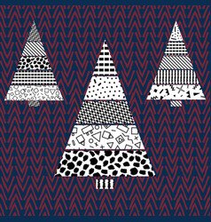 tree christmas pattern vector image