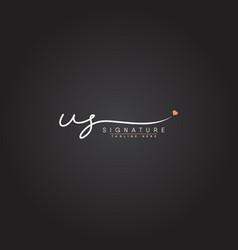 Us signature logo - handwritten logo vector