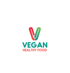vegan healthy food sign vector image