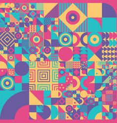 Vintage bauhaus art design seamless pattern vector