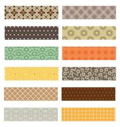Washi tapes set vector