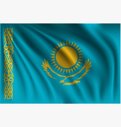 Waving kazakhstan vector