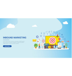 website design landing page ui ux for inbound vector image
