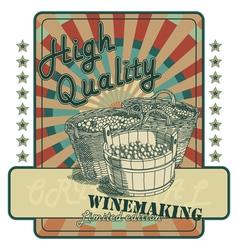 Wine tag vector