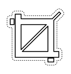 Zoom image photographic icon vector