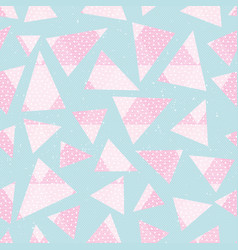 abstract pink color triagnles pattern vector image