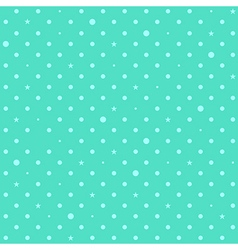 Blue Green Mint Star Polka Dots Background vector image vector image