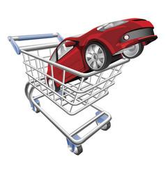 car shopping cart concept vector image vector image