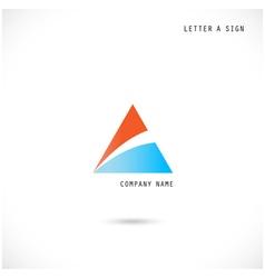 Creative letter A icon abstract logo design vector image vector image