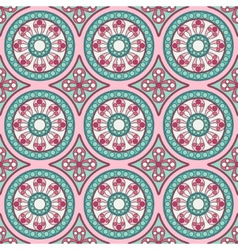Geometric seamless ornament pattern vector image